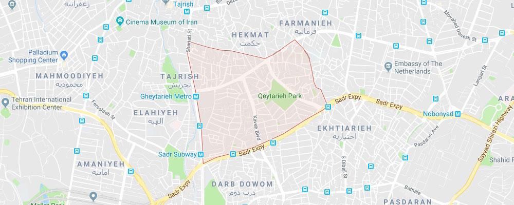 باربری قیطریه تهران